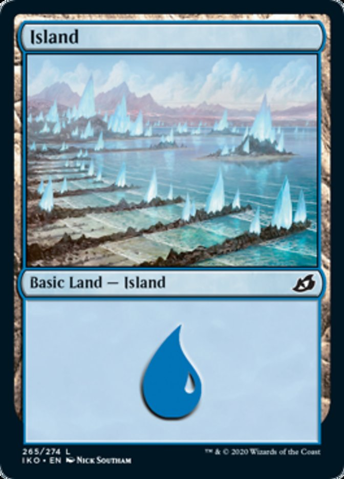 Island (265) card from Ikoria: Lair of Behemoths