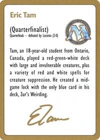 1996 Eric Tam Biography Card