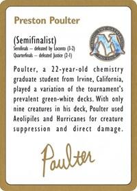 1996 Preston Poulter Biography Card