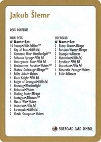 1997 Jakub Slemr Decklist Card