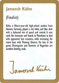 1997 Janosch Kuhn Biography Card