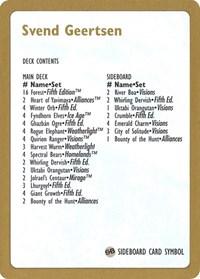 1997 Svend Geertsen Decklist Card