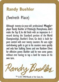 1998 Randy Buehler Biography Card