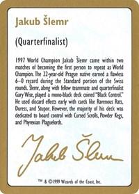 1999 Jakub Slemr Biography Card