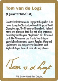 2000 Tom van de Logt Biography Card