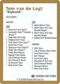 2000 Tom van de Logt Decklist Card