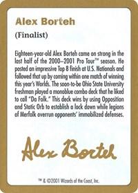 2001 Alex Borteh Biography Card