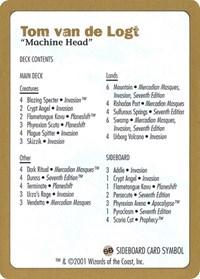 2001 Tom van de Logt Decklist Card