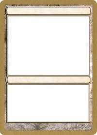 2003 World Championship Blank Card