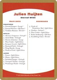 2004 Julien Nuijten Decklist Card