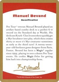 2004 Manuel Bevand Biography Card