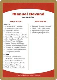 2004 Manuel Bevand Decklist Card