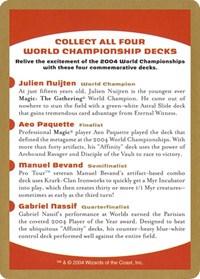 2004 World Championship Advertisement Card