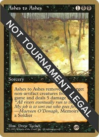 Ashes to Ashes - 1996 Leon Lindback (4ED) (SB)
