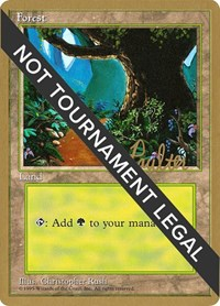 Forest (B) - 1996 Preston Poulter (4ED) card from World Championship Decks
