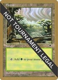 Forest (Cloudy) - 1998 Brian Selden (TMP) card from World Championship Decks