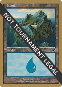 Island (336) - 2001 Antoine Ruel (MMQ) card from World Championship Decks