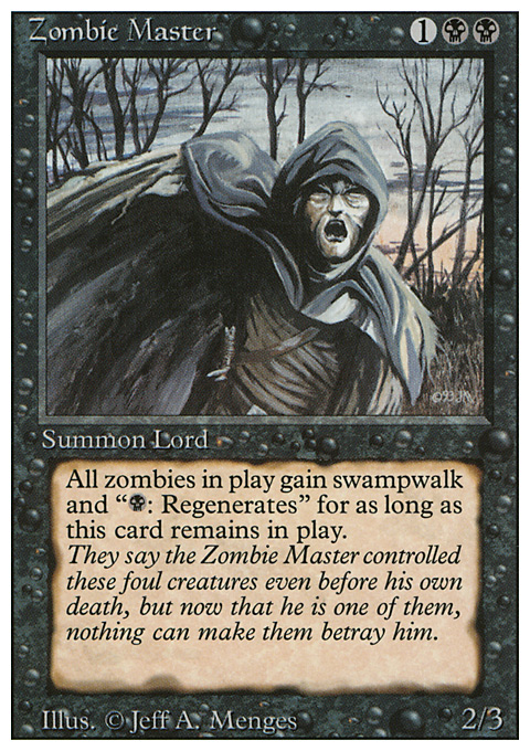 Zombie Master card from Revised Edition