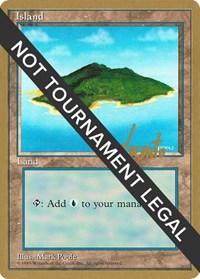 Island (B) - 1996 Michael Loconto (4ED) card from World Championship Decks