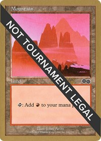 Mountain (346) - 1999 Mark Le Pine (USG) card from World Championship Decks
