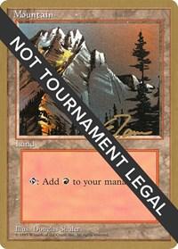 Mountain (A) - 1996 Eric Tam (4ED) card from World Championship Decks