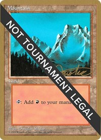 Mountain (B) - 1996 Mark Justice (4ED) card from World Championship Decks