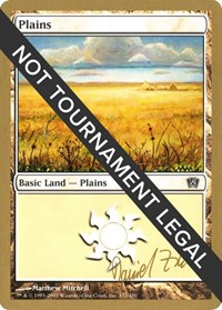 Plains (332) - 2003 Daniel Zink (8ED) card from World Championship Decks