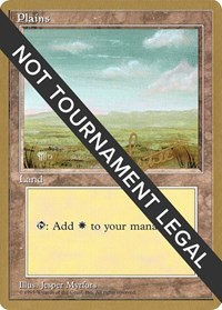 Plains (C) - 1996 Bertrand Lestree (4ED) card from World Championship Decks