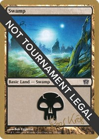 Swamp (339) - 2003 Peer Kroger (8ED) card from World Championship Decks