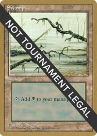Swamp (C) - 1996 Leon Lindback (4ED) card from World Championship Decks