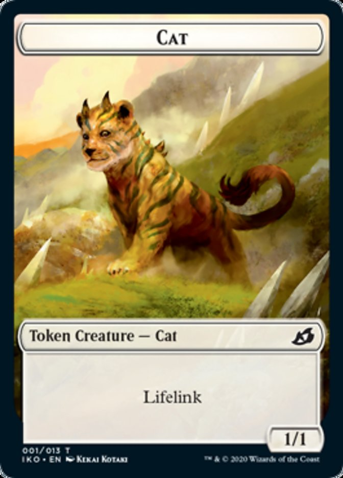 Cat // Human Soldier (003) Double-sided Token