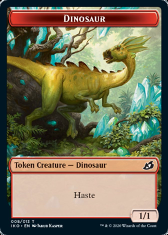Dinosaur // Human Soldier (004) Double-sided Token