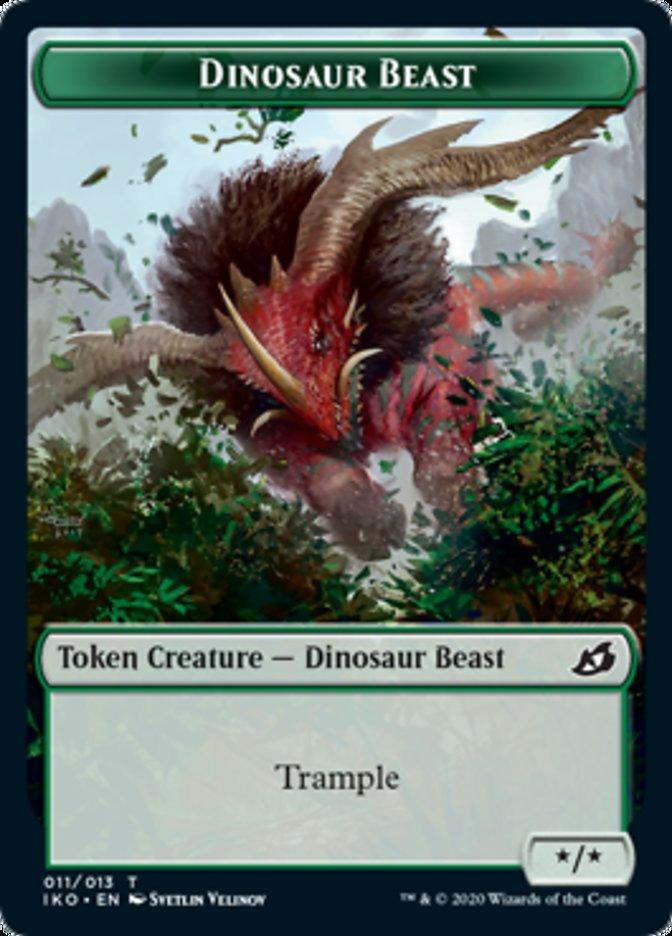 Dinosaur Beast // Human Soldier (004) Double-sided Token