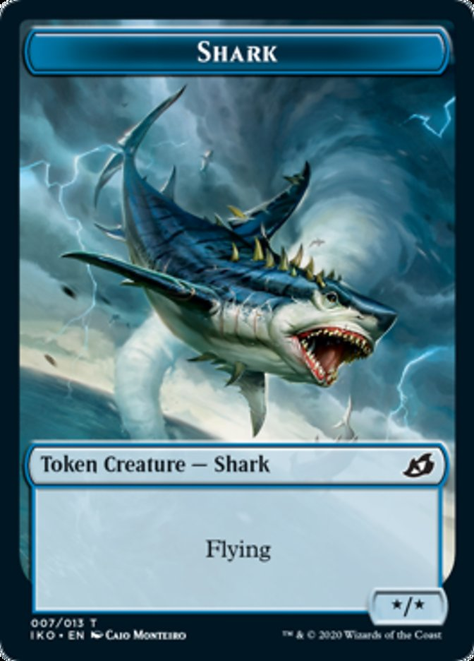 Shark // Human Soldier (003) Double-sided Token