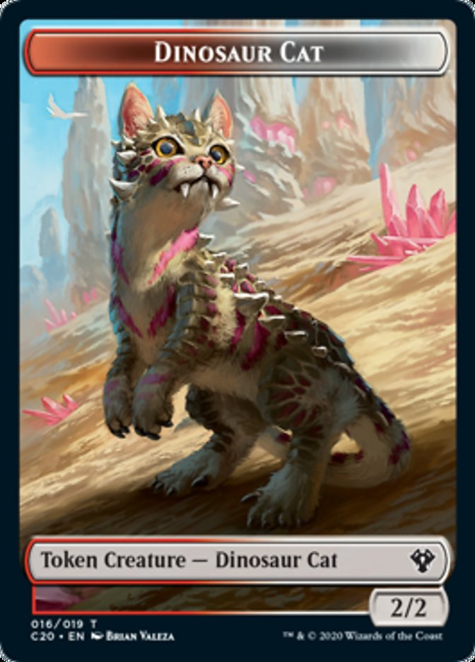 Dinosaur Cat Token