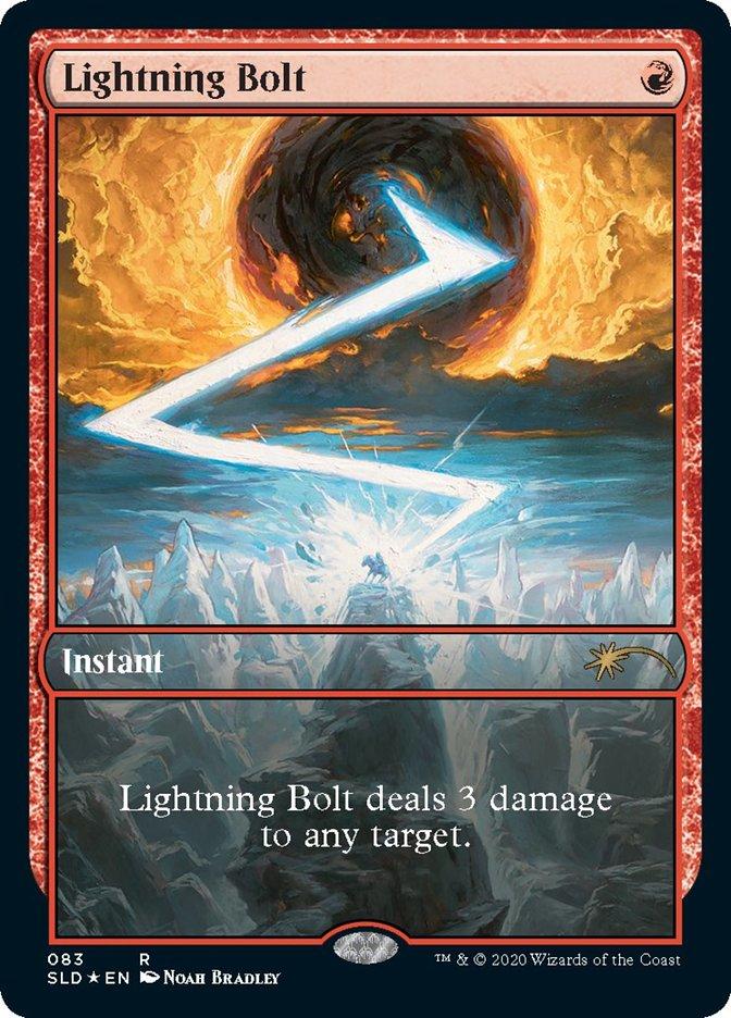 Lightning Bolt (083) card from Secret Lair Drop Series