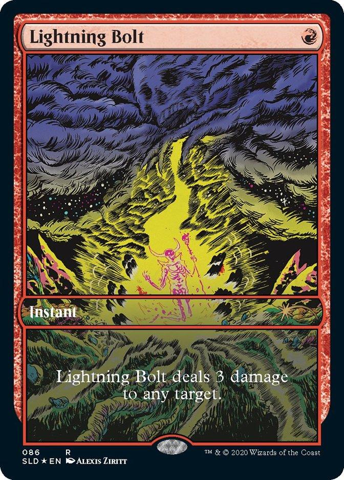 Lightning Bolt (086) card from Secret Lair Drop Series