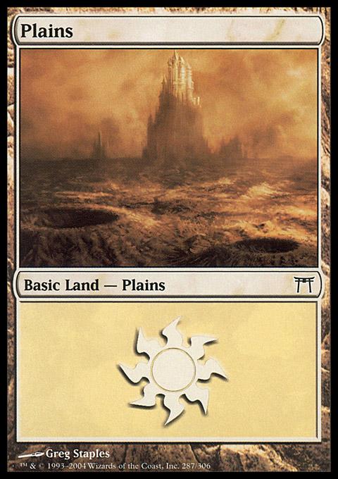 Plains (287)  card from Champions of Kamigawa