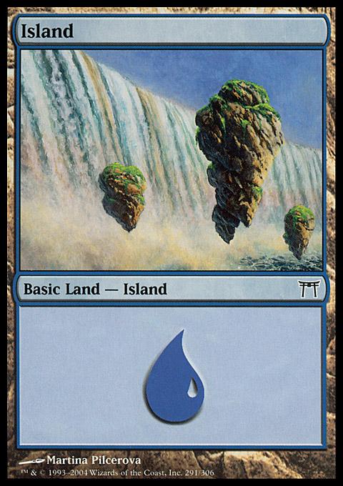 Island (291)  card from Champions of Kamigawa