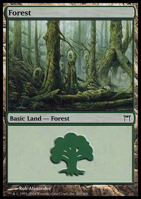 Forest (303) card from Champions of Kamigawa