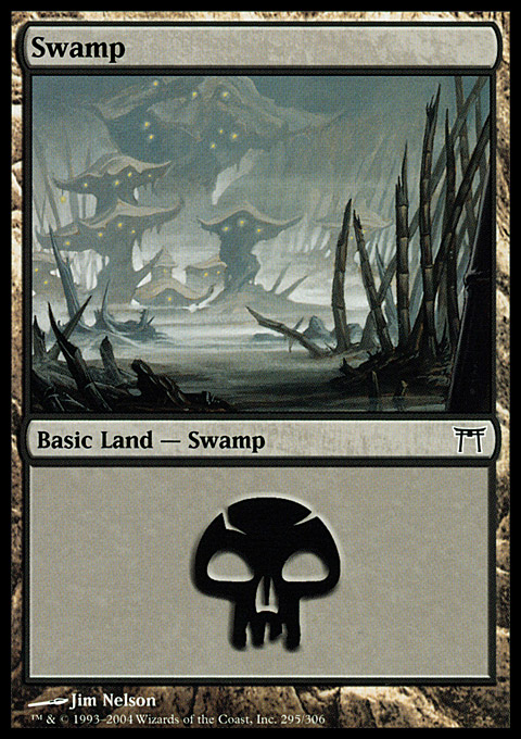 Swamp (295)  card from Champions of Kamigawa