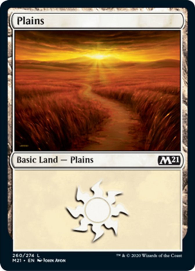 Plains card from Core Set 2021