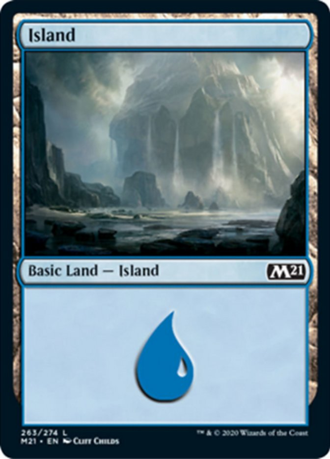 Island card from Core Set 2021