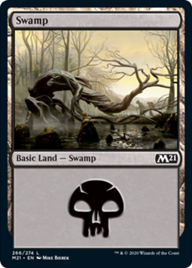Swamp card from Core Set 2021