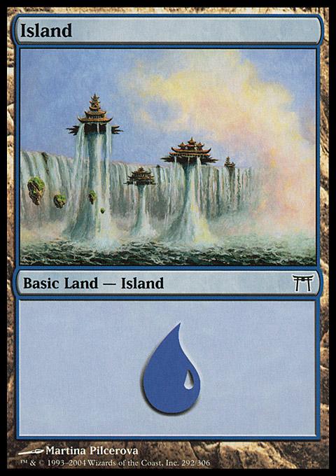 Island (292)  card from Champions of Kamigawa