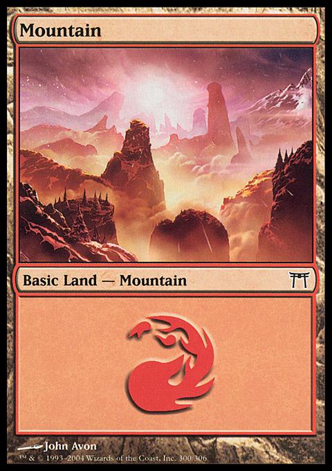 Mountain (300)  card from Champions of Kamigawa