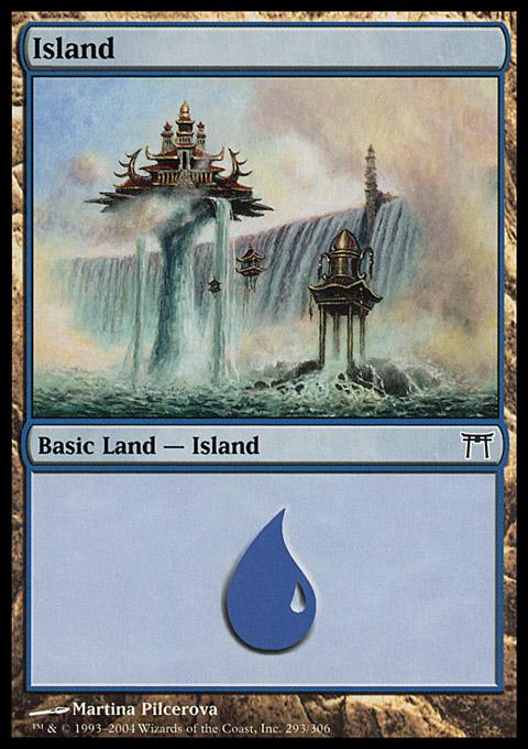 Island (293)  card from Champions of Kamigawa