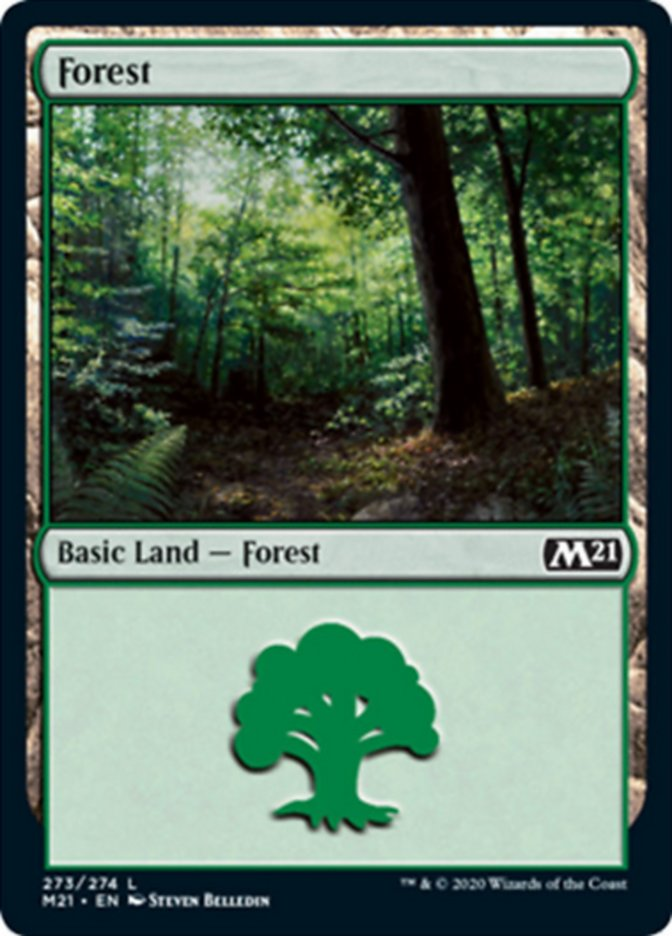 Forest (273) card from Core Set 2021