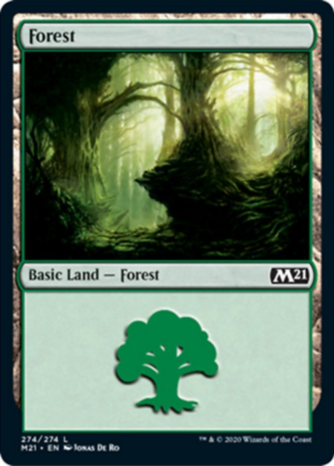 Forest (274) card from Core Set 2021