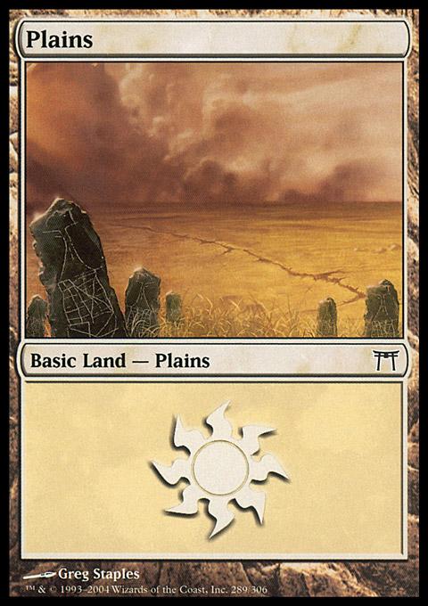 Plains (289)  card from Champions of Kamigawa